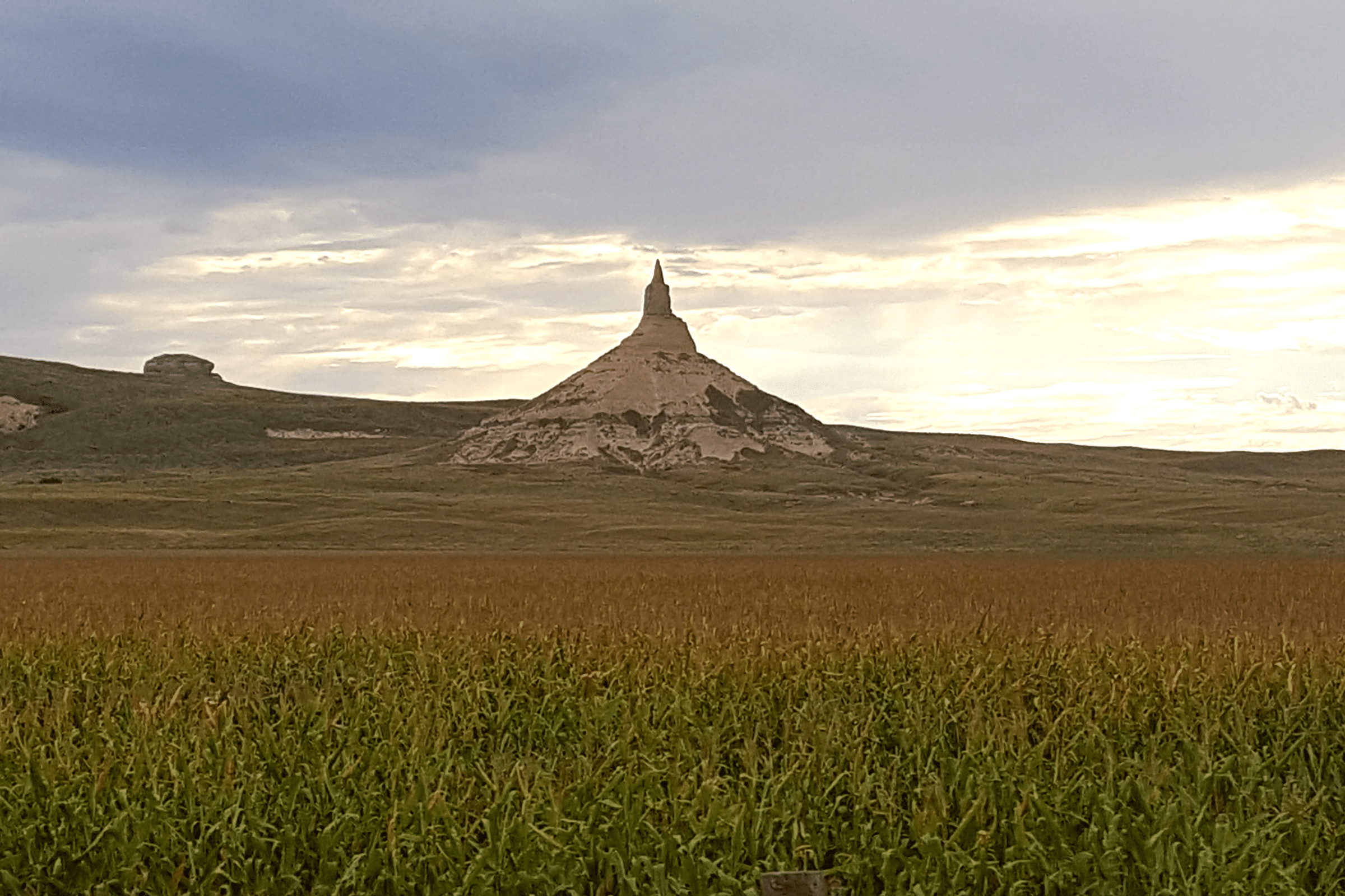 Western Nebraska's Chimney Rock is the perfect location for an instagram selfie Photo Courtesy Patrick T Cooper